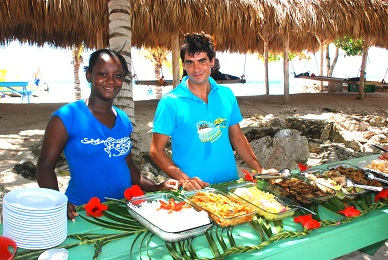 Dominican-Hospitality-shown-during-lunch-on-Saona